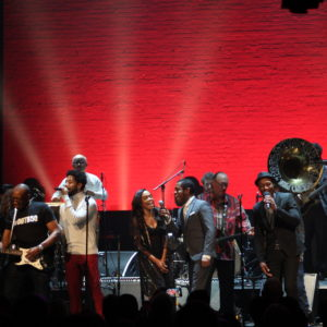 "An all-star lineup sings ""Dock of the Bay"" at the 2018 Evening of Respect"